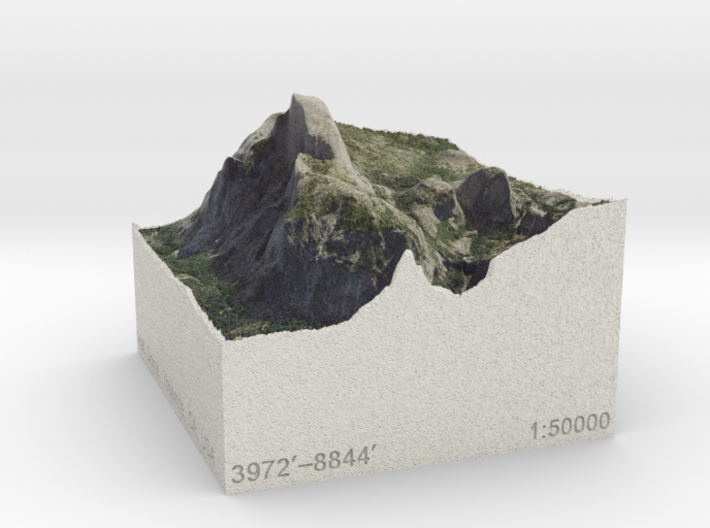 Half Dome, California, USA, 1:50000 Explorer 3d printed