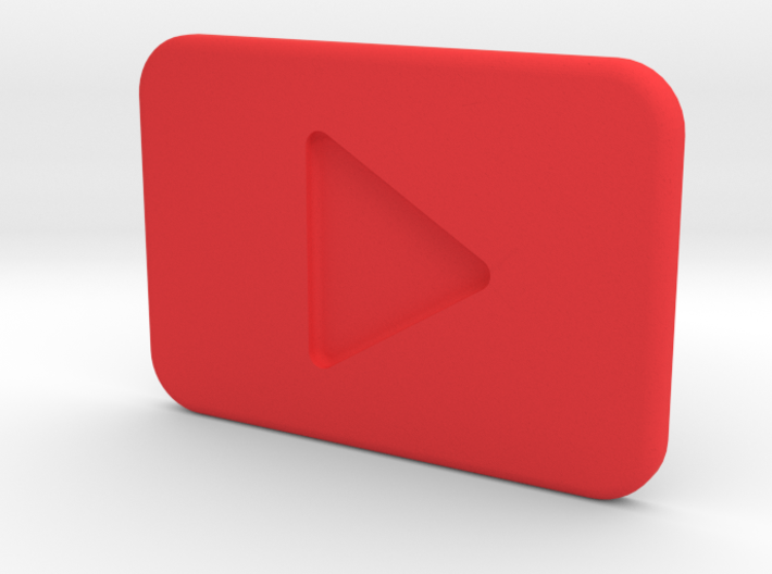 Youtube Play button 3d printed
