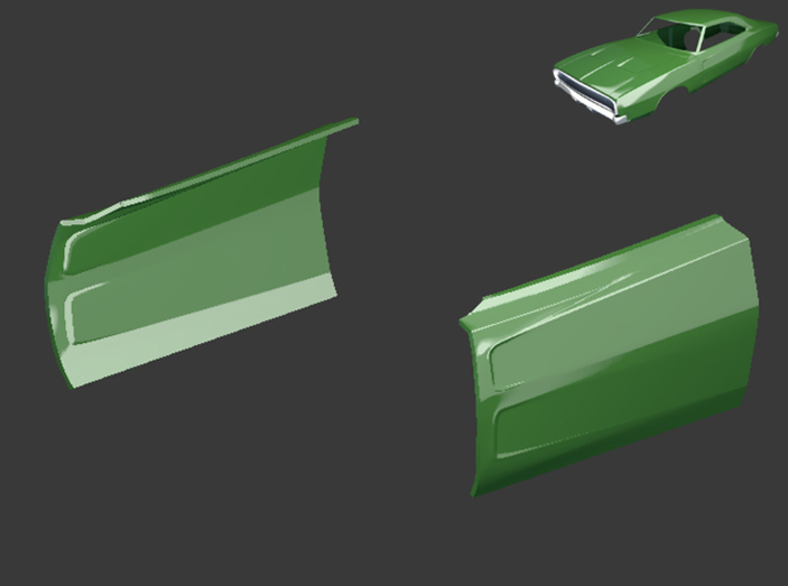 Dodge Charger 1968 Doors 3d printed