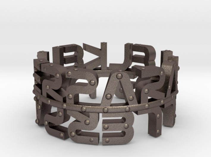 """The Parallelkeller """"Studded Mirror"""" Ring 3d printed"""