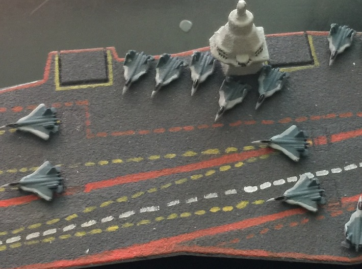 PAK FA Carrier Fighter Set, 12 pc, 1/1800 3d printed Painted Sample on 23000E