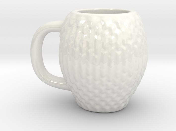 Espresso Cup: Dragon Scales 3d printed