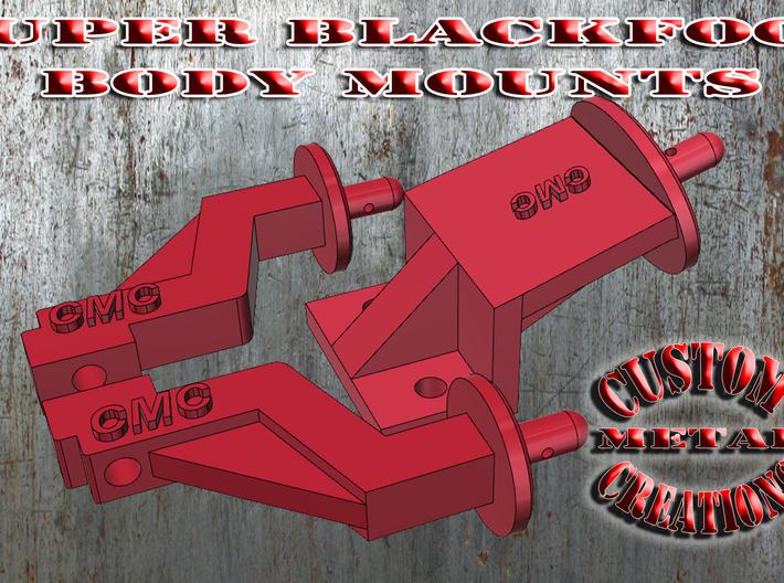 Tamiya Super Blackfoot Body Mounts 3d printed Tamiya Super Blackfoot Body Mounts