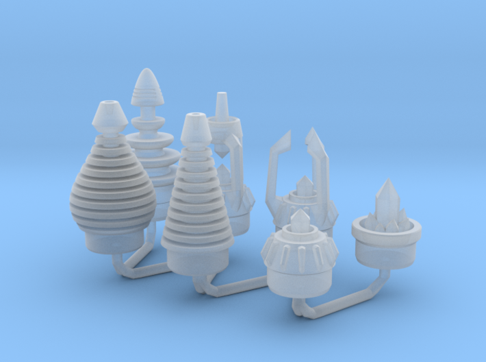 Ice Breaker Nozzles All A 1:6 scale 3d printed