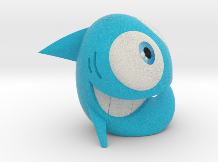 HAPPY FISH street art sculpture 3d printed what's in the box