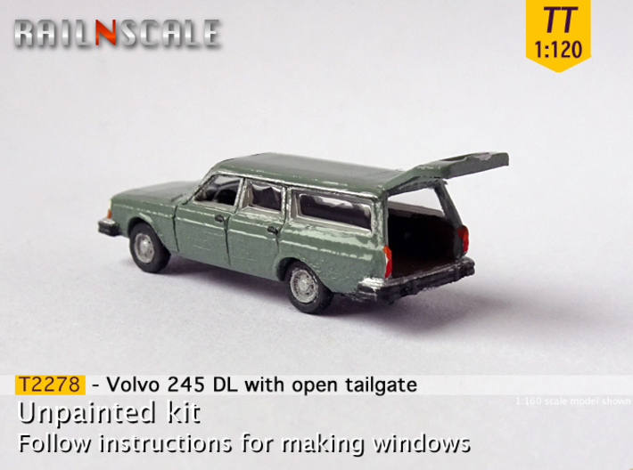 Volvo 245 DL with open tailgate (TT 1:120) 3d printed