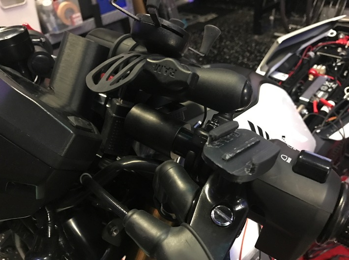 Honda Grom Mirror replace with GoPro Clip Buckle m 3d printed