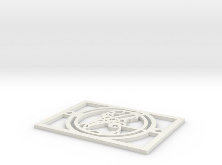 Gallifreyan Light Plate - Relaxing Drink 3d printed