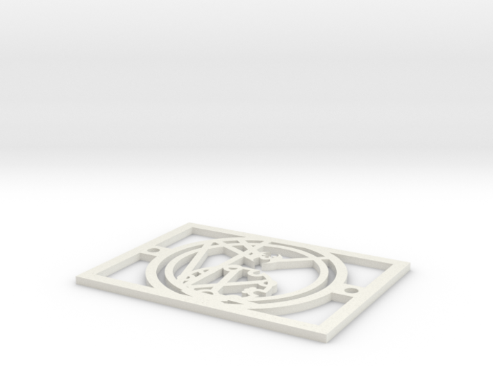 Gallifreyan Light Plate - Nutritious Food 3d printed