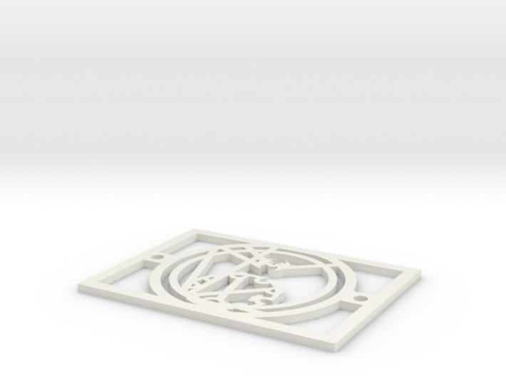 Gallifreyan Light Plate - Nutritious Food 3d printed