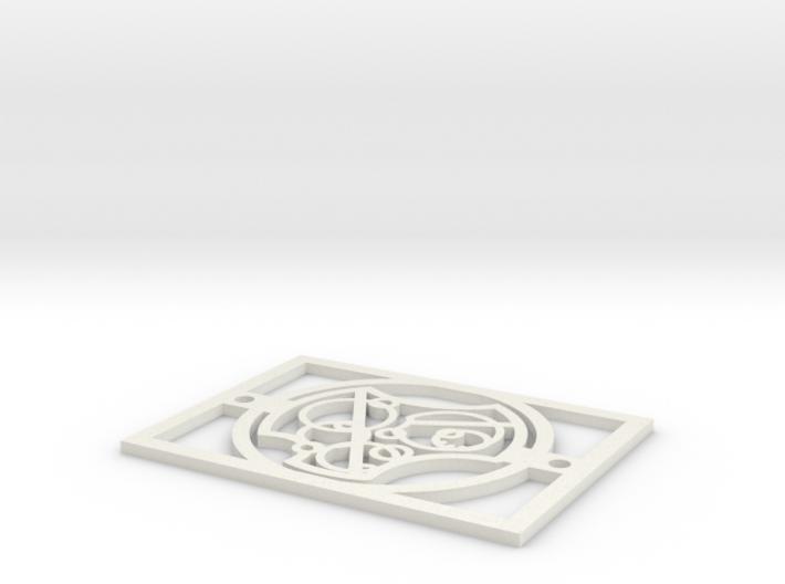 Gallifreyan Light Plate - I Love You 3d printed