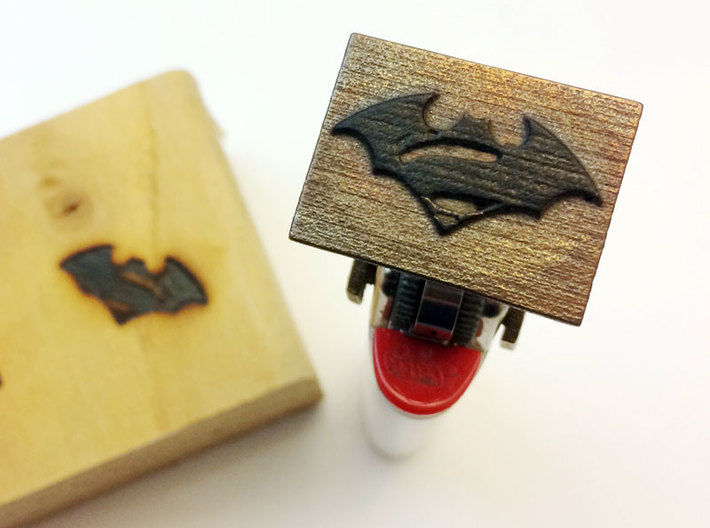 Bic Lighter Branding Iron - 1 Inch Square 3d printed Image on the Rectangular Base