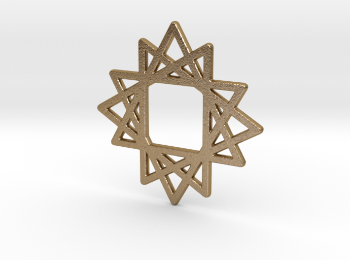 16 Point Star 3d printed