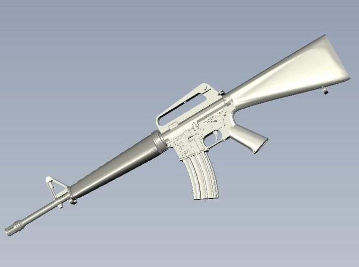 1/15 scale Colt M-16A1 rifles x 5 3d printed