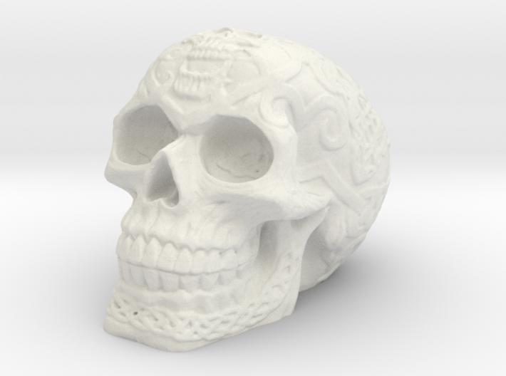 Celtic Skull (Hollow) 3d printed