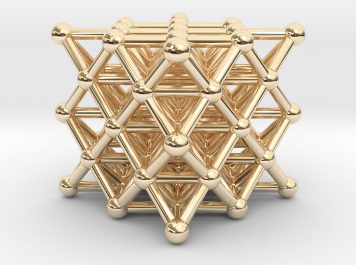64 Tetrahedron Grid - Isotropic Vector Matrix 3d printed