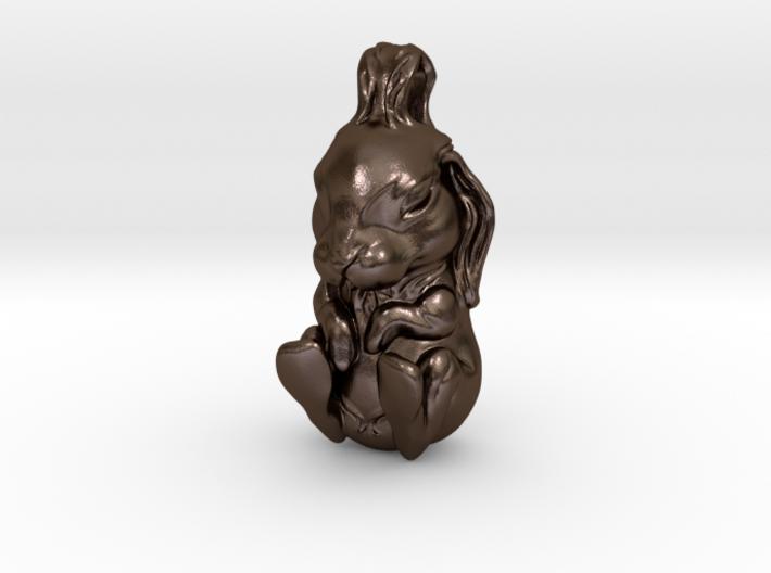 The Sleeping Rabbit - Pendant 3d printed