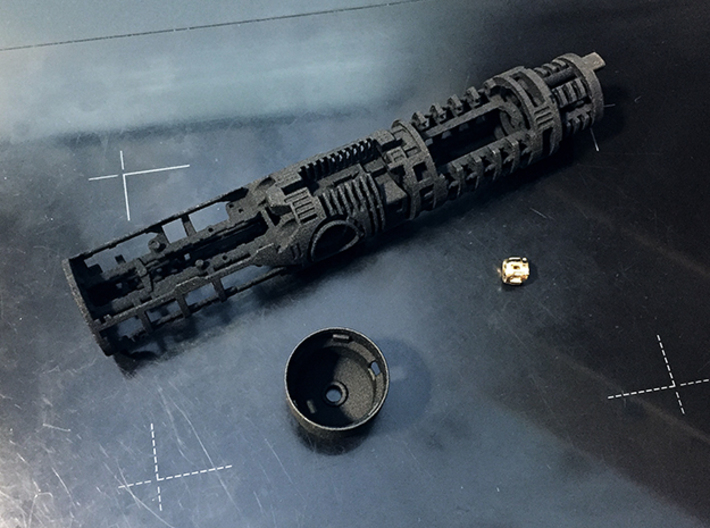 """KAM Chassis Main Part 1 31,5mm (1,24"""") OD 3d printed"""