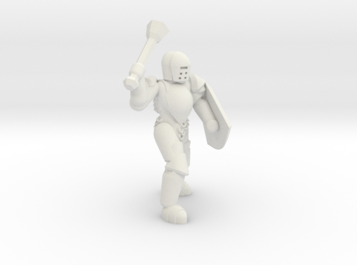 General Paladin Mini 2 (Mace and Shield) 3d printed