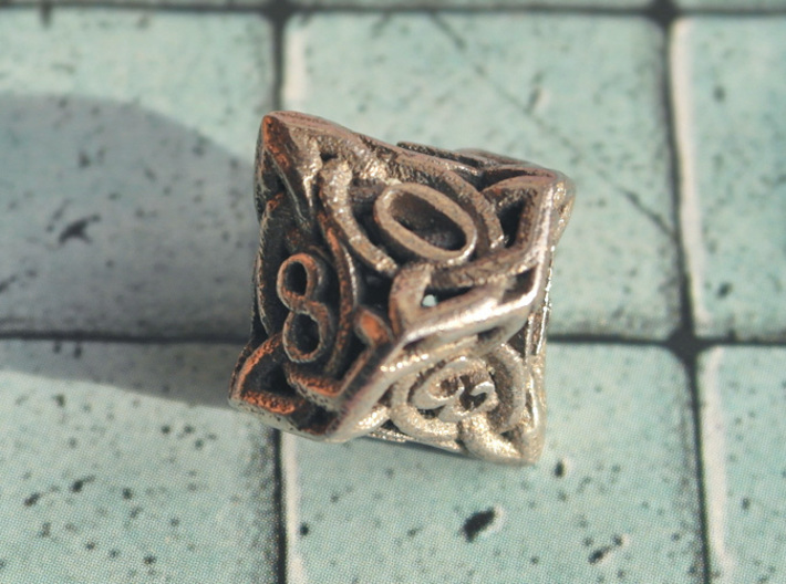 Celtic D10 3d printed Printed in Stainless Steel