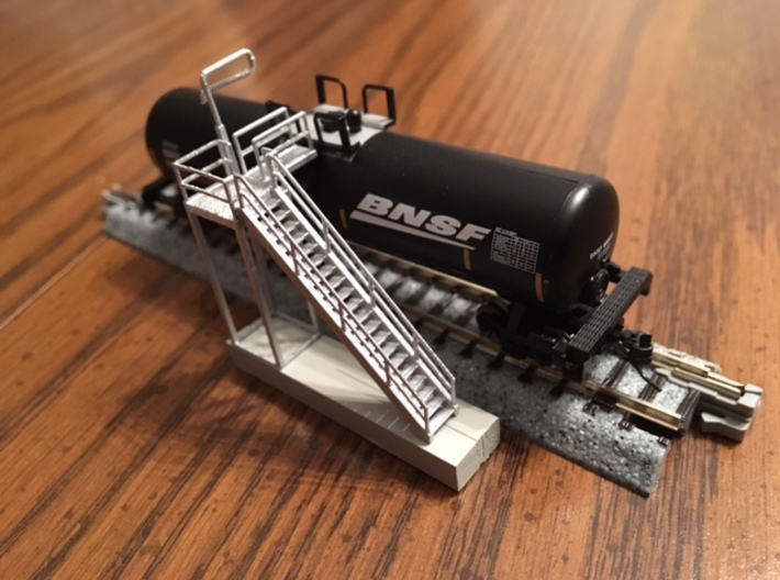 'N Scale' - Ethanol Fill Station Stairs 3d printed