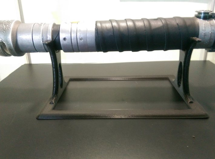 Original Lightsaber Stand 3d printed Printed in PLA as tester
