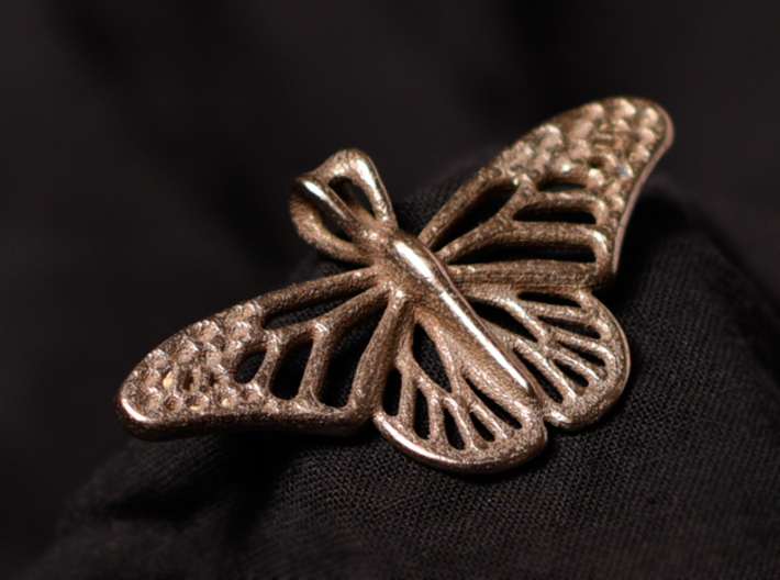 Butterfly Pendant 3d printed Butterfly in Stainless Steel