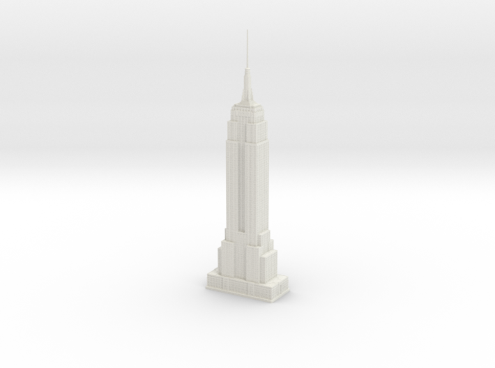Empire State Building (1:2000) 3d printed Assembled model.