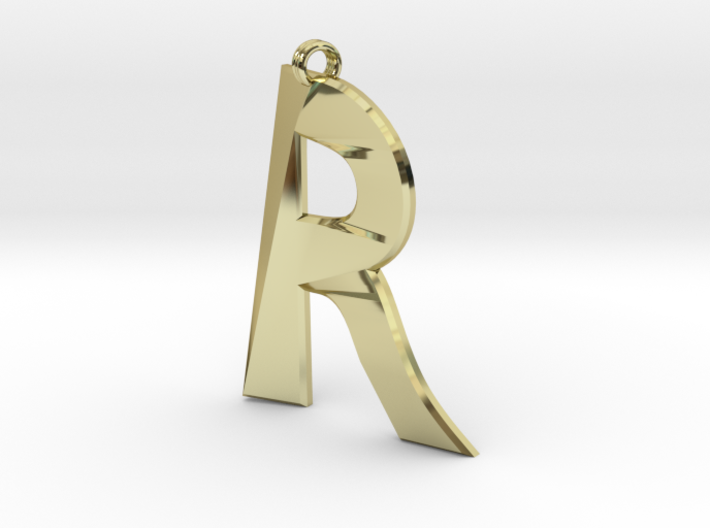 Distorted letter R 3d printed
