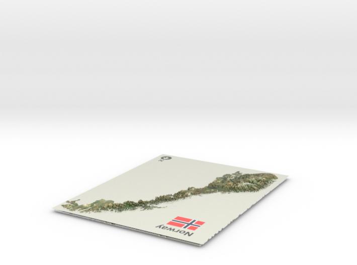 Norway Map 3d printed