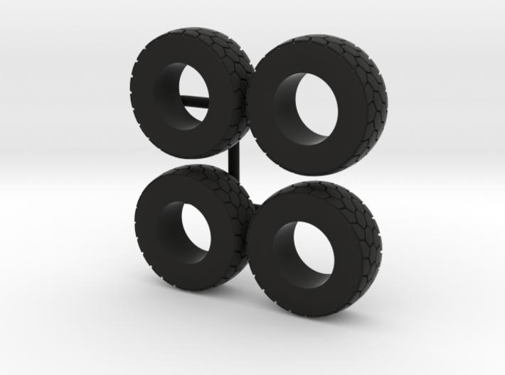 1/64 Wheel loader tires 3d printed