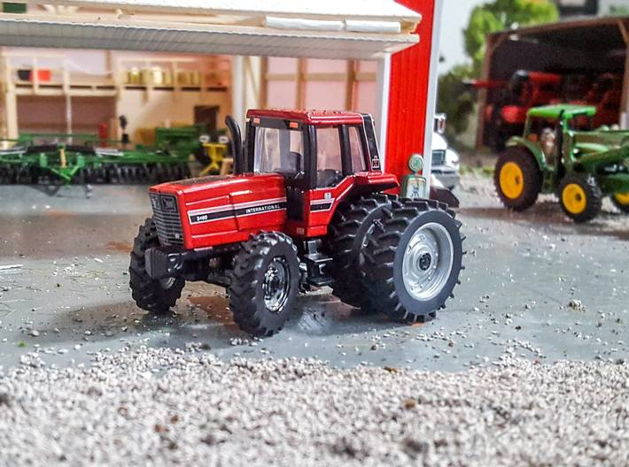 1/64 steerable front end two pack longer nubs 3d printed steerable front end on an ertl tractor