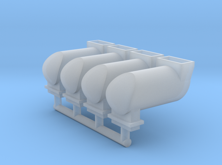 MILW GP/SD/F Exhaust Spark Arrestor (HO - 1:87) 4X 3d printed