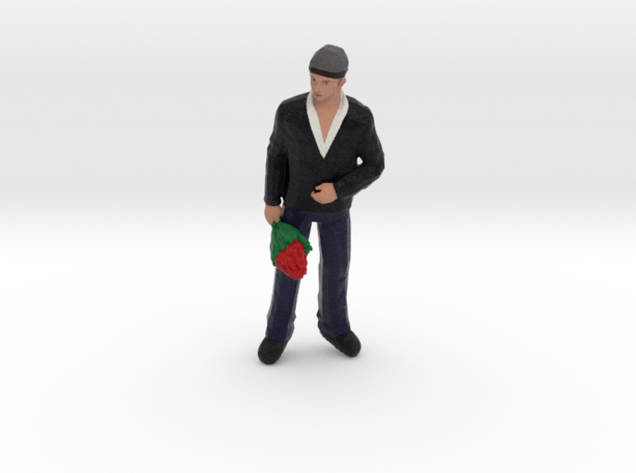 Man With Flowers 3d printed