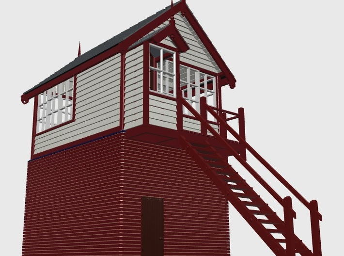 HG71 Hassall Green signal box 3d printed Stairs end