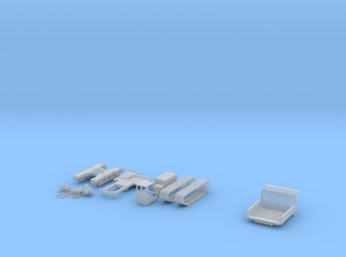 HO/1:87 Crawler Carrier dumpbody kit 3d printed