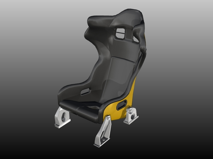 Race Seat F488-GT3-Type - 1/10 3d printed