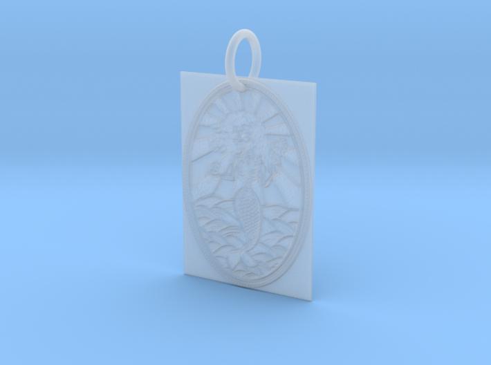 Dead Mermaid Keychain 3d printed