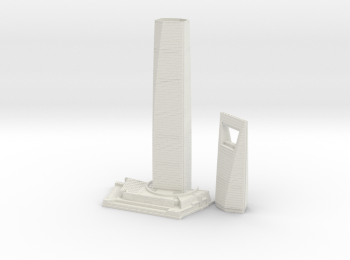 Shanghai World Financial Centre (1:2000) 3d printed