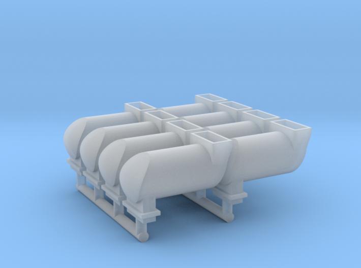 MILW GP/SD/F Exhaust Spark Arrestor (HO - 1:87) 8X 3d printed