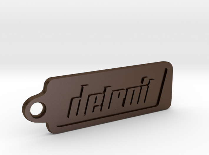 Detroit, Michigan Keychain 3d printed