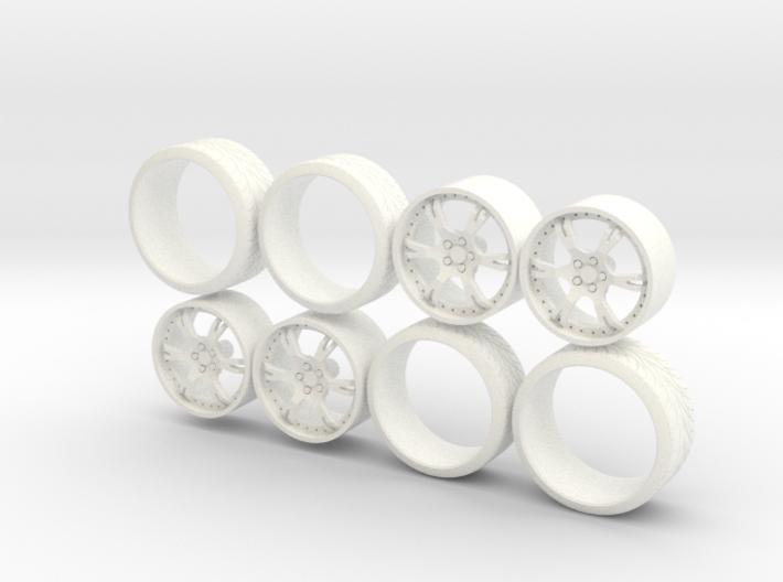 Set Wheels Sporz² + Tire 1-18 3d printed