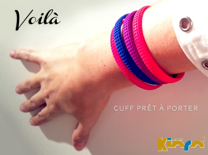 Voilà Cuff 3d printed Strong & Flexible Plastic         Polished