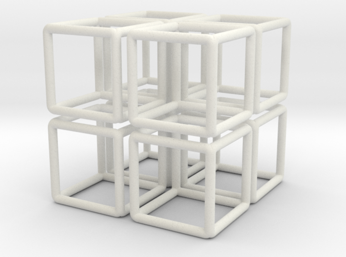 Building Cube 8x Scale 1-200 3,5x3,5x3,5m 3d printed