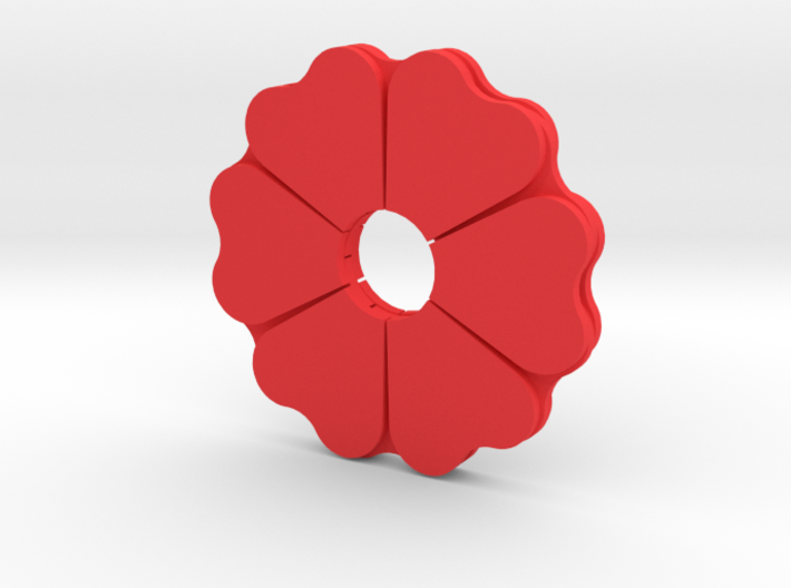 Poppy Spinner 3d printed
