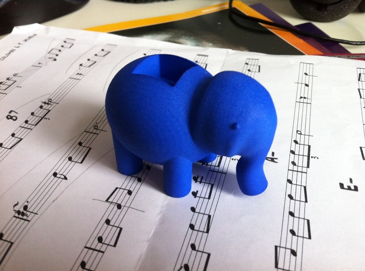 Elephant LED Lamp 3d printed Little Blue Elephant, on its way ...
