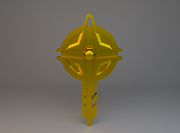 Ancient Key Pendant 3d printed RENDER, does NOT REPRESENT FINAL PRODUCT