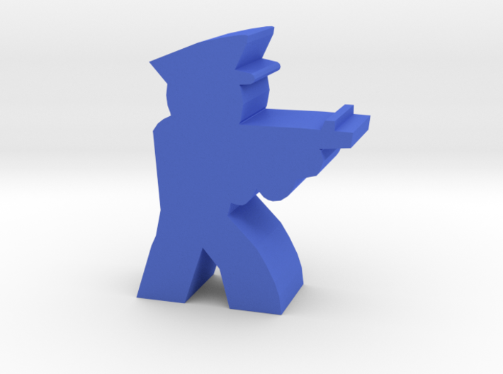 Game Piece, Cop Aiming With Thompson 3d printed