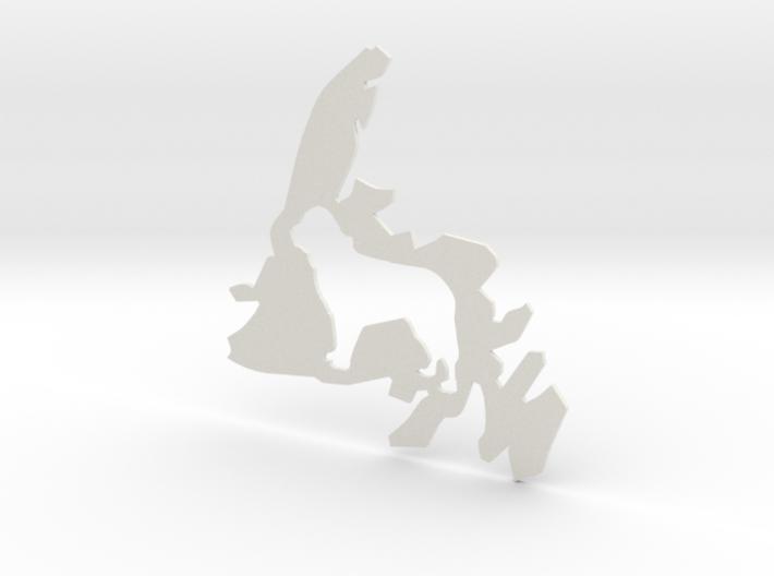 Newfoundland Dog Cutout (S) 3d printed