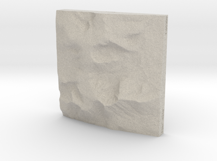 4'' Mt. Katahdin, Maine, USA, Sandstone 3d printed